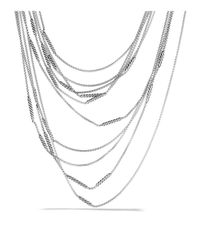 David Yurman - Metallic Willow Five-row Chain Necklace - Lyst