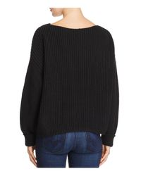French Connection | Black Millie Mozart Ribbed Sweater | Lyst