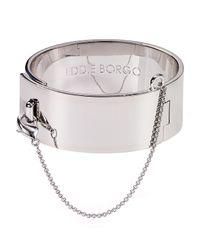 Eddie Borgo - Metallic Safety Chain Bangle - Lyst