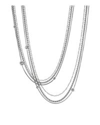 David Yurman | Metallic Starburst Pearl Chain Necklace | Lyst
