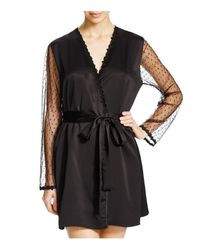 Flora Nikrooz | Black Showstopper Cover Up Robe | Lyst