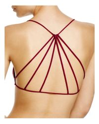Free People | Purple Bra - Strappy Back | Lyst