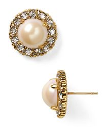 kate spade new york - Natural Secret Garden Stud Earrings - Lyst