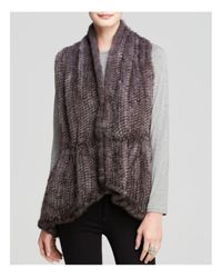 Maximilian - Blue Maximilian Knitted Mink Vest With Knit Back - Lyst