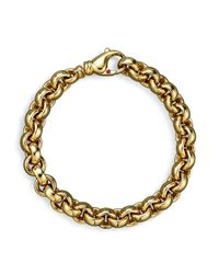 Roberto Coin | Metallic 18k Yellow Gold Small Round Link Bracelet - 100% Exclusive | Lyst