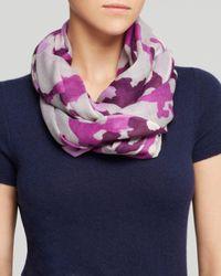 Aqua | Purple Camouflage Scarf | Lyst