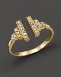 Dana Rebecca | Pink 14k Yellow Gold And Diamond Combo Ring, .15 Ct. T.w. | Lyst