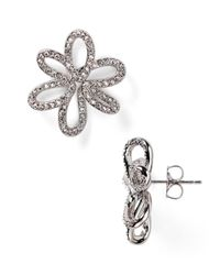 Nadri | Metallic Open Flower Stud Earrings | Lyst