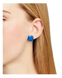 Kate Spade - Blue Small Square Stud Earrings - Lyst