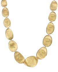 Marco Bicego | Metallic 18k Yellow Gold Lunaria Collar Necklace, 18.5"