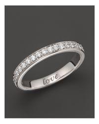 "Monica Rich Kosann | 18k White Gold ""love"" Posey Ring With Diamonds | Lyst"