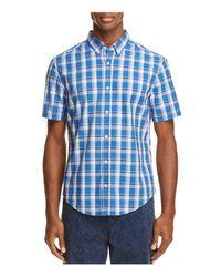 BOSS Green - Blue C-baldasarino Plaid Regular Fit Button-down Shirt for Men - Lyst