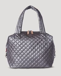 MZ Wallace - Gray Oxford Sutton Large Satchel - Lyst