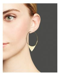 Lana Jewelry | Metallic 14k Yellow Gold Small Magic Elite Hoop Earrings | Lyst