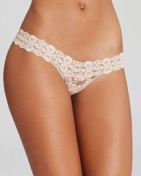 Hanky Panky | Natural Cross-dyed Signature Lace Low-rise Thong #591054 | Lyst