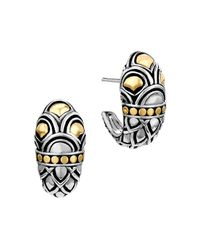 John Hardy | Metallic Sterling Silver & 18k Gold Naga Shrimp Earrings | Lyst