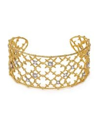 Alexis Bittar - Metallic Elements Riveted Lace Cuff - Lyst