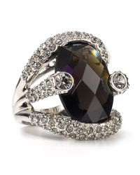 ABS By Allen Schwartz | Black Women's Large Stone Pave Ring | Lyst