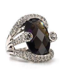 ABS By Allen Schwartz - Black Women's Large Stone Pave Ring - Lyst