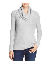 Soft Joie - Gray Mattingly Waffle-knit Cowl Neck Sweater - Lyst