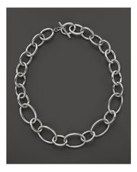 Ippolita | Metallic Sterling Silver Glamazon Oval Link Necklace, 18"