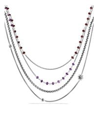David Yurman | Metallic Starburst Necklace With Amethyst And Garnet | Lyst