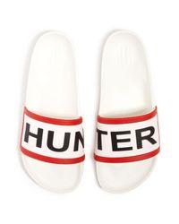 Hunter | Red Women's Slides | Lyst