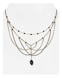 Chan Luu | Black Multi Strand Necklace, 16.75"
