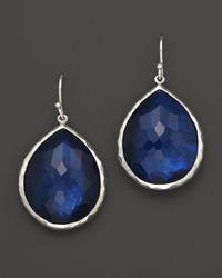 """Ippolita - Blue """"midnight Wonderland"""" Sterling Silver Rock Candy Large Single Teardrop Earrings In Midnight - Lyst"""