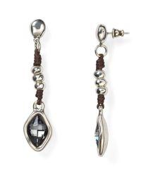 Uno De 50   Metallic Harmonic Linear Drop Earrings   Lyst