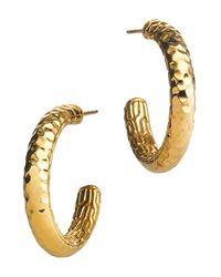 John Hardy | Metallic Palu 18k Gold Medium Hoop Earrings | Lyst