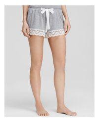 Flora Nikrooz | Gray Snuggle Knit Shorts | Lyst