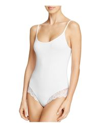 Only Hearts - White So Fine Lace-trim Low-back Bodysuit - Lyst