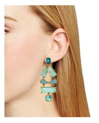 kate spade new york | Blue Beach Statement Earrings | Lyst