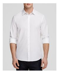 Michael Kors | White Stretch Cotton Button-down Shirt - Slim Fit for Men | Lyst