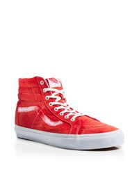 Vans | Red Sk8-hi Reissue Ca Vintage Sunfade Sneakers for Men | Lyst