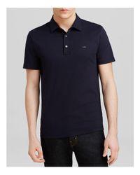 Michael Kors | Blue Sleek Slim Fit Polo Shirt for Men | Lyst