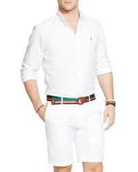 Polo Ralph Lauren | White Oxford Button-down Shirt - Classic Fit for Men | Lyst