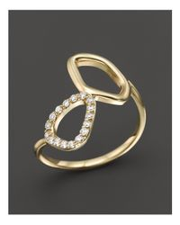 KC Designs | Metallic Diamond Geometric Ring In 14k Yellow Gold | Lyst