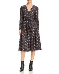 Rebecca Taylor - Black La Vie Aubrie Floral Midi Dress - Lyst