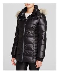 Marc New York - Black Paris Fur Trim Puffer Coat - Lyst