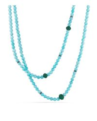 David Yurman | Osetra Necklace With Amazonite And Green Onyx | Lyst