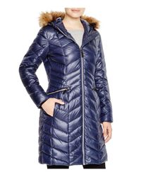 Marc New York - Blue Long Puffer Coat - Lyst