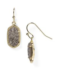 Kendra Scott | Metallic Lee Agate Drop Earrings | Lyst