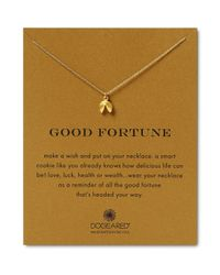 """Dogeared - Metallic Good Fortune Necklace, 18"""" - Lyst"""