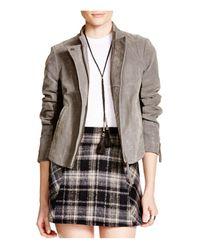 Free People | Gray Clean Vegan Faux Leather Jacket | Lyst