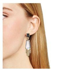 Alexis Bittar | Metallic Elements Dangling Fringe Cabochon Clip-on Earrings | Lyst