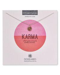 "Dogeared - Metallic Karma Druzy Bezel Necklace, 16"" - 100% Bloomingdale's Exclusive - Lyst"