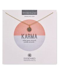 "Dogeared - Gray Karma Druzy Bezel Necklace, 16"" - 100% Bloomingdale's Exclusive - Lyst"