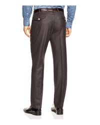 Valentini - Brown Flannel Melange Slim Fit Trousers for Men - Lyst